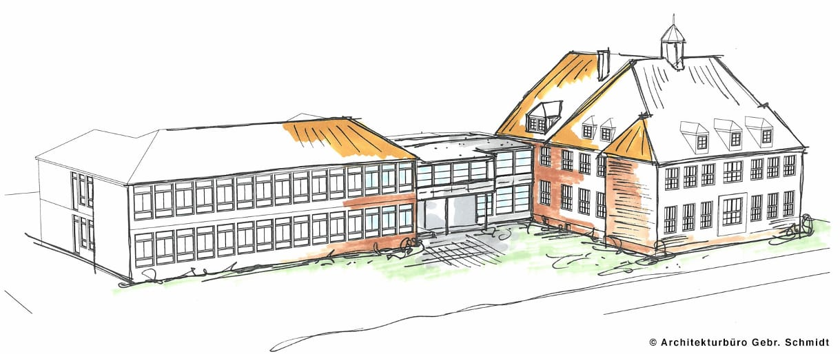 Umbau der Schule im Sommer 2020